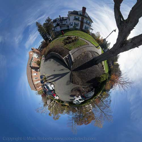 Finished stereographic projection